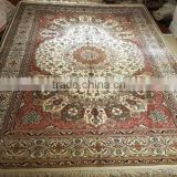 pink color classic oriental handmade silk carpet kashmir silk carpet iranian hand knotted silk carpet