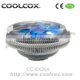 COOLCOX CPU COOLER CC-EX20A for Intel LGA 1156/1155/1151/1150/775 & AMD FM2/FM1/AM3+/AM2/AM2+,aluminium fins