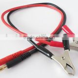 4.0mm Banana plug male to Alligator Clips with 14 AWG Silicone Wire