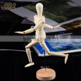 High quality lifelike adjustable small wooden mannequin,special gift wooden manikin doll,educational DIY wooden manikin