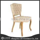 Modern button fancy fabric dining chairs