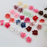 wholesale cheap Handmade flower baby garment accessory polyester Satin Ribbon Flowers for clothing