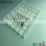modern design clear acrylic serving tray with compartments