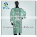Disposable ISO PP nonwoven Surgical gown/isolation gown with knit cuff/pp surgical gown with elastic cuffs