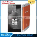 Original Lenovo K900 Smart Phone Intel Atom Z2580 Dual Core 2.0GHz Android4.2 5.5''1920*1080 Gorilla Galss 13MP mobile phone