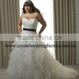 New sweetheart lace corset tiered beaded ruffled xl xxl xxl xxl custom-made plus size bridal wedding dresses CWFaw4624