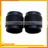 OEM bushing connector black satin anodizing aluminum cnc lathe turning parts