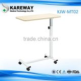 medical funiture height adjustable hospital bed side table