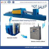 mesh belt conveyor high temperature atmosphere electric heat treatment unit brazing furnace