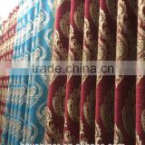 luxury chenille fabric for curtain, jacquard chenille upholstery fabric, chenille jacquard fabric for window curtain