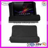 F012 Plush Tablet Wedge Pillow Angled Cushion Lap Stand Black Computer Desk Laptop Cushion Tray