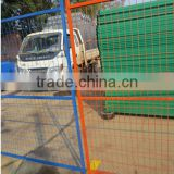 colorful powder coating temporary fence for Canada maket welded wire mesh fence with square pipe frame