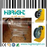 shopping trolley with 5'' ball bearing PU flat castor