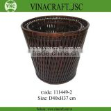Brown bamboo basket