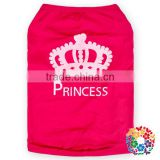 Wholesale Nice Cotton Dog Clothes Lovely Hot Pink Princess Pet Dog Clothes