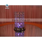 Amazing design table decoration purple bling crystal candle holders