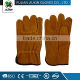 JX68E531 Wholesale Made In China Working Cow split leather driver glove