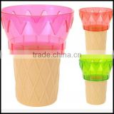 Ice Cream Cone Shaped Sundae Dish Party Bowl Set Ice Cream Cones bowls,custom plastic ice cream bowls manufacturer