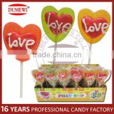 "Heart Shaped ""Love"" Jelly Valentine Lollipops"