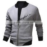 High Quality Varsity Jacket ,320 GSM Fleece Jackets, Black and white jacket