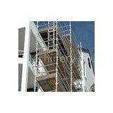 Construction Frame Platform Walk - Through Mobile Scaffold Towers / Mobile Scaffolding