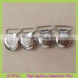 Factory Supplier Metal Suspender Clips With Engraved Logo