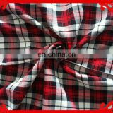 2015 latest Italy design pattern poly cotton pink red check brushed flannel twill or brushed melange fuzzy warm fabric