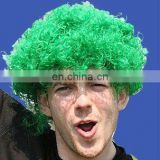 Wholesale sport fans afro wig for NFL/MLB/NBA/NHL s fans