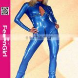 Top Slimming Girl Hot Sexy Latex Rubber Catsuit For Women