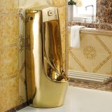 Bathroom standing urine basin men used portable toilets golden urinal