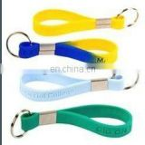 logo printed promotional custom silicone rubber keychains