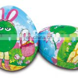 easter egg shape tin