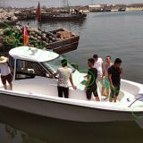 8.6m fiberglass boat with twin engines fishing boat