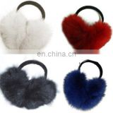 rabbit fur ear warmer