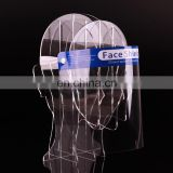 2020 Cheap Plastic PET Safety Face Shield Fluid Resistant Full Face Visor Transparent Single Use Plastic Face Shield
