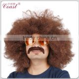 Hippie brown Jumbo afro curly wig