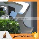 Matt stainless steel sculpture for home or garden decoration