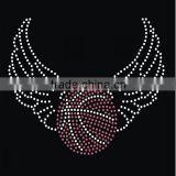 Heat press rhinestone iron on transfers wholesale basketball