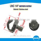 Ideas for mini company Professional Manufacturer hidden camera screw stainless steeel 1/4'' D ring slotted camera screw