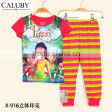 Baby Girls Puteri Clothing sets Kids Autumn -Summer Pajamas Set 2015 New Wholesale Puteri Children Cartoon Clothes