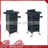 Good quality China supplier cosmetic hair salon tools trolley storage rolling cart