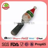 Christmas ceramic santa heated butter knife