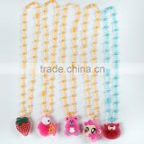 Children fashion Lovely cartoon design led necklace flashing