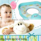 PM2399 2014 Karibu Baby Factory Sell Eco-friendly Safe kids Potty Seat with Handle and Plastic Backing