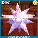 Fashion club decorations items inflatable star with color changeable led light for party,event decoration