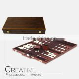 wooden printing chess wood backgammon set