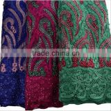 pearls beaded dress fabric african french lace fabrics with stones