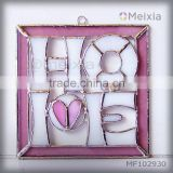 MF102930 tiffany style stained glass wall hanging plaque for christmas decoration item