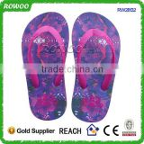 new design fancy beach girl printing slipper