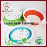 Colander Set - 3 Collapsible Colanders (Strainers) Set - Includes 3 Folding Silicone Strainers